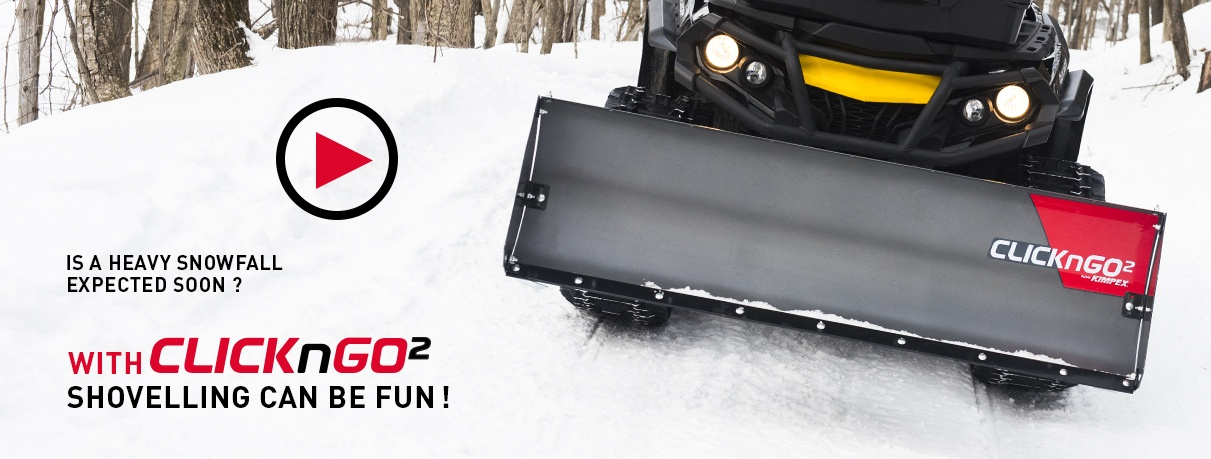The ATV & Quad Snow Plow CLICK-N-GO 2