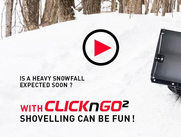 The ATV & Quad Snow Plow CLICK-N-GO 2