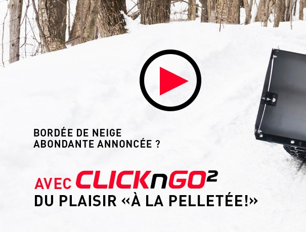 Pelle VTT UTV Click-N-Go 2 de la neige à la pelletée!