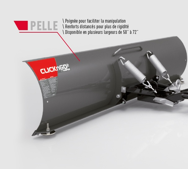 Pelle VTT et UTV CLICK-N-GO 2 Specificités produits